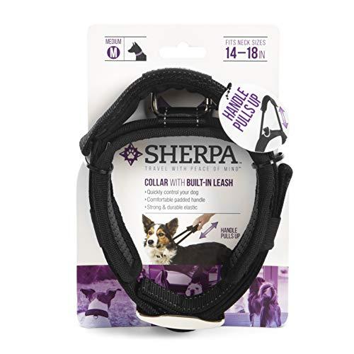 Sherpa Travel Hundehalsbänder, Geschirr und Leinen, Dog Collar, Medium, schwarz