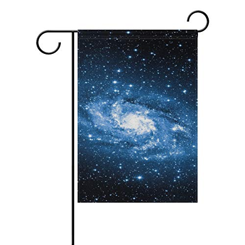 REFFW para la decoración del césped al Aire Libre Sky Galaxy Star Cloud Jardinería de Doble Cara Banner Golf Garden Flag Home