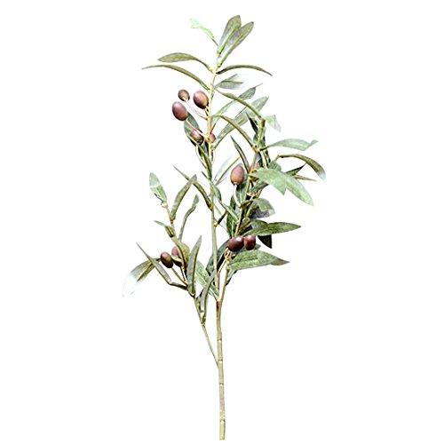 Künstliche Olive Leaf grün Pflanzen Früchte Zweige Fake Blätter Home Decor