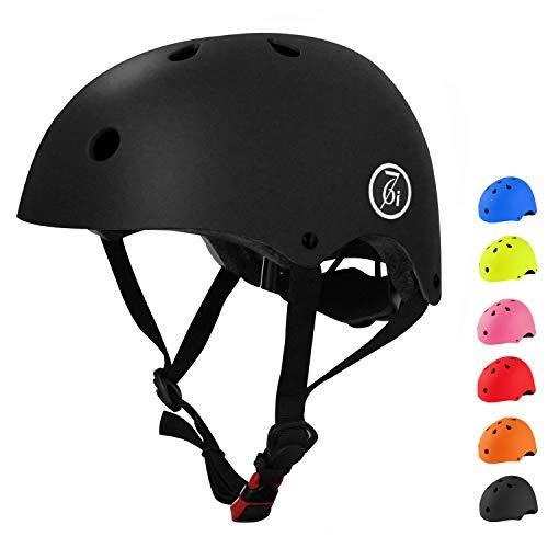 67i Kids Bike Helmet Toddler Bike Helmet Adjustable and Multi-Sport from Kids to Youth 2 Sizes (Black, Medium)