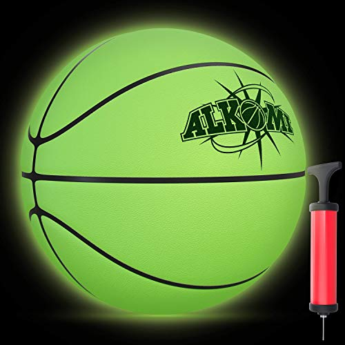 Affordable ALKOMI Glow in The Dark Basketball, Light Up Basketball, LED Night Reflective Glowing Hol...