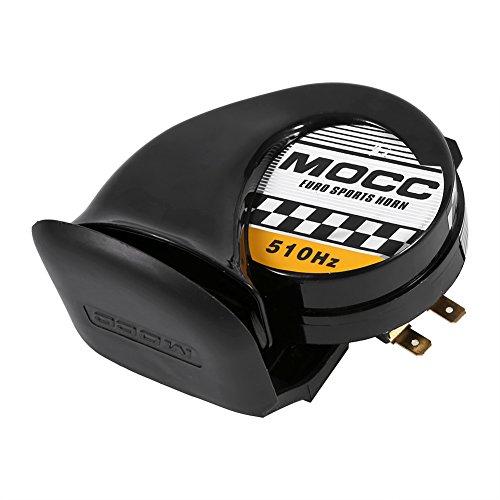 KEENSO elektrische mini-claxon in slakkenschaal, geschikt voor motorfiets, auto en scooter, compact en universeel, volume 115 dB, frequentie 510 Hz, spanning 12 V, stroom 3,5 A