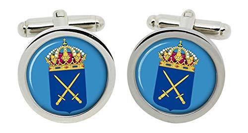 Gift Shop Schwedische Armee (Svenska Arme ́ n) Manschettenknöpfe in Box