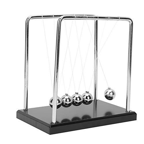 Hztyyier Newton's Cradle Metal Balance Balls Física Ciencia Péndulo Escritorio Juguete Oficina...