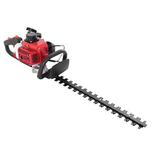 """Hedge Trimmer - Handheld Shears Weed Grass Clippers Hedge Trimmer,26cc 24"""" Double-Sided Blade Recoi-l Gasoline Trim Blade for Lawn Edge Gardening Use (from US)"""