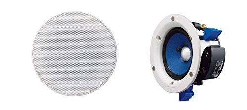 Yamaha NS-IC400 WH - Altavoces empotrables de tipo abierto (8 ohms, 85 dB), color blanco