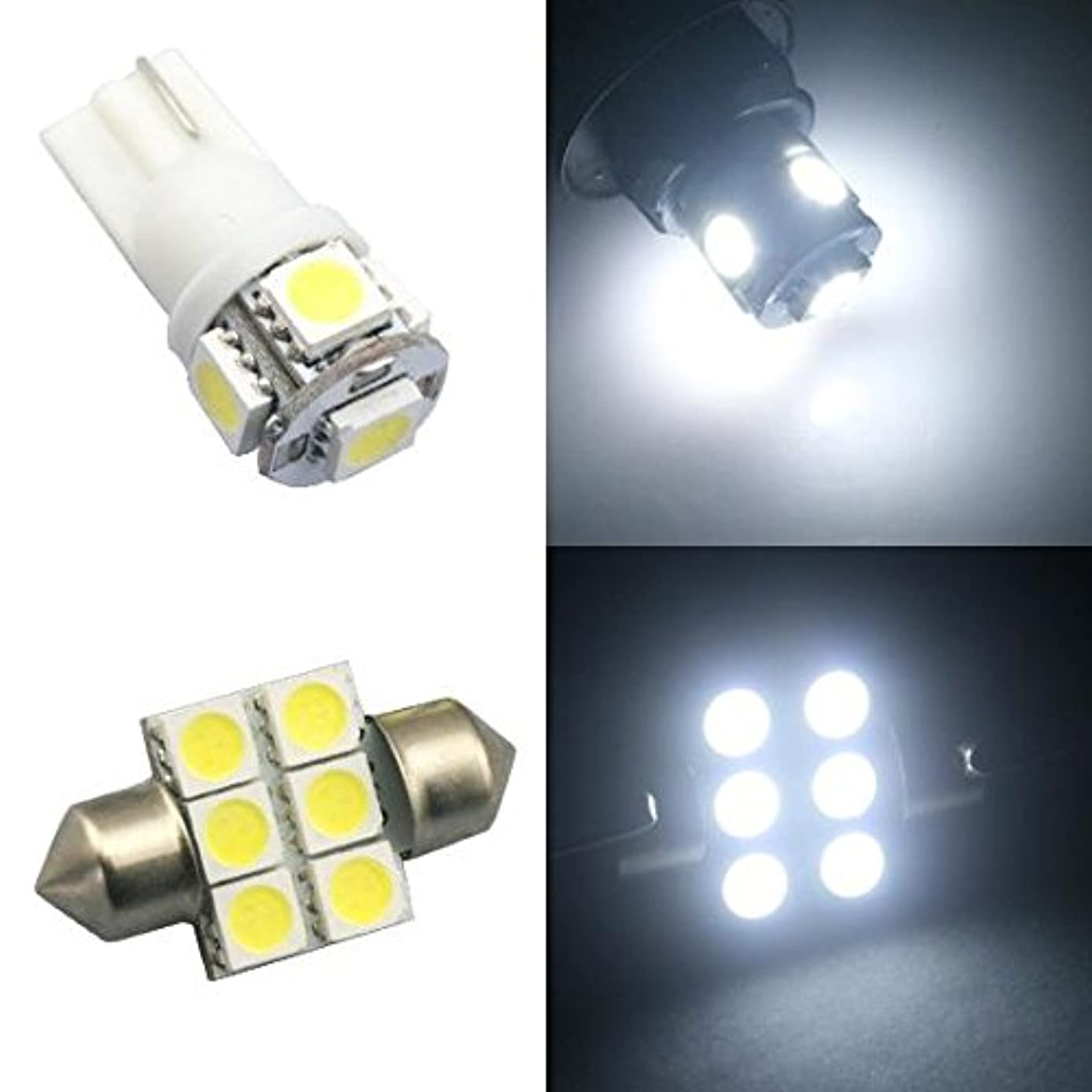 Classy Autos White LED Lights Interior Package For Honda Odyssey (11 Pieces)