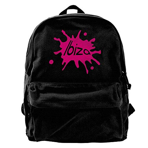 hengshiqi Mochila Backpack, Ibiza Outdoor Backpack School Bags Travel Backpack Canvas Christmas Backpack Unisex Boys and Girls