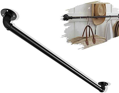 FF Multifunctionele ladderleuningen: gebruikt als deurgrepen/leuning/handgrepen/kapstok hanger - roestvast ijzeren pijpontwerp voor binnen en buiten (afmeting: 150 cm)