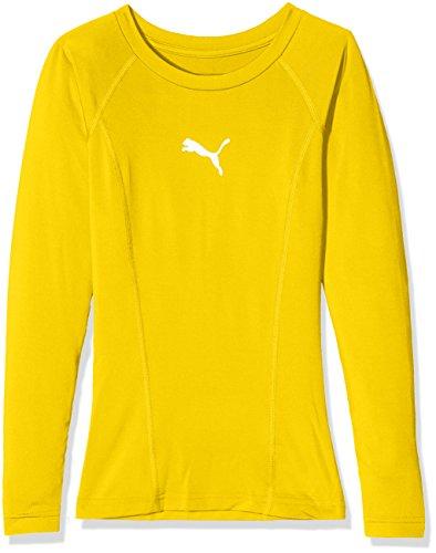 Puma Kinder LIGA Baselayer Tee LS Jr Shirt, Cyber Yellow, 164