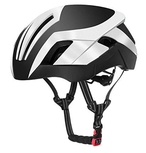 min min Casco de Ciclismo EPS Casco de Bicicleta Reflectante 3 en 1 MTB Carretera Bicicleta Casco de luz de Seguridad para Hombre Molded Moldeado Integral (Color: Blanco) (Color : Red)