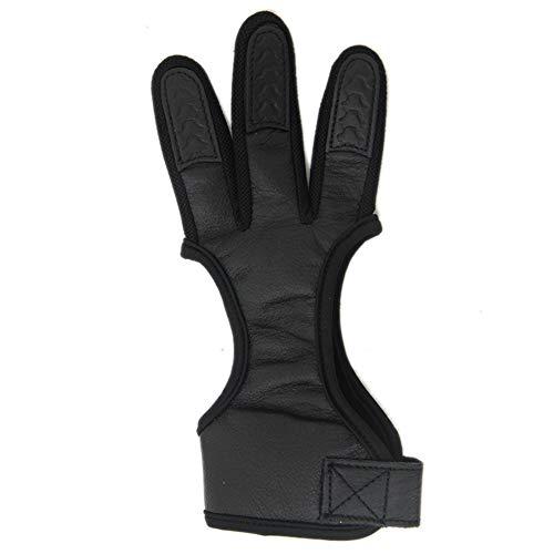nlgzklsh Schutzhandschuh für Bogenschießen, 3 Finger, Schutz für Recurve Compound Bogen, XL