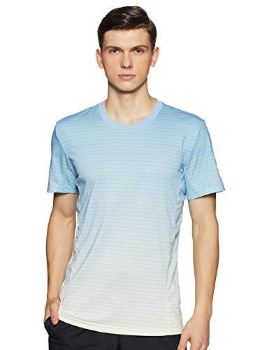 adidas, Melbourne Striped T Shirt, Uomo, Melbourne Striped, Ash Blue/White, S