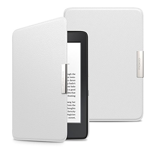 MoKo Kindle Paperwhite Funda - Premium Ultra Ligera (Auto - Sueño/Estela) Lightweight Shell Cover Case para Amazon All-New Kindle Paperwhite - Blanco