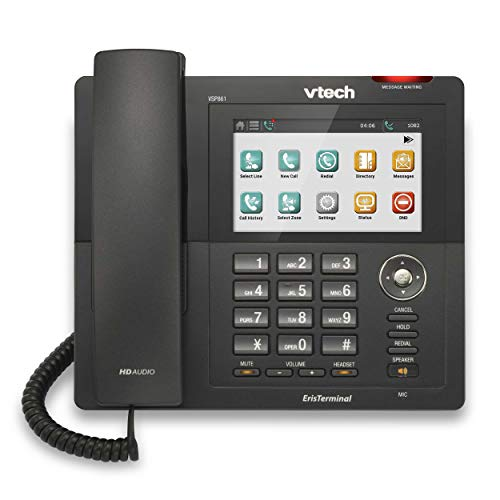 VTech VS861 ErisTerminal SIP Color Teléfonos de escritorio con pantalla táctil
