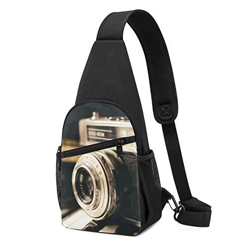 DEKIFNHG Old Photography Camera Sling Backpack Hiking Daypack Crossbody Shoulder Bag