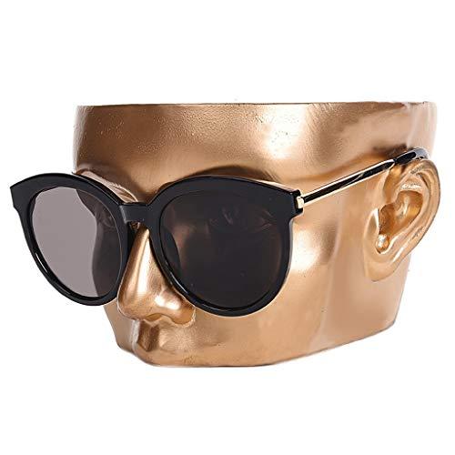 Schmuck Türme Mannequin Dummy-Kopf-Gläser Display-Ständer Kopfform Display Requisiten Sonnenbrillen Anzeige Storage Rack Geeignet for Einkaufszentren Startseite Schmuckständer ( Color : Gold )