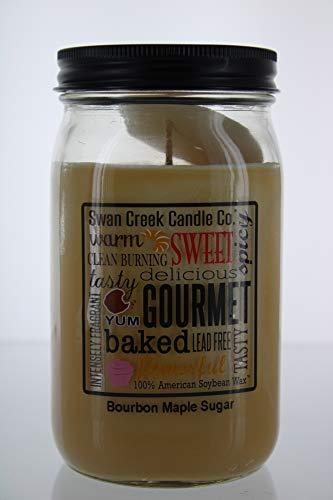 Swan Creek 100% American Soybean 24 Oz. Jar Candle - Bourbon Maple Sugar