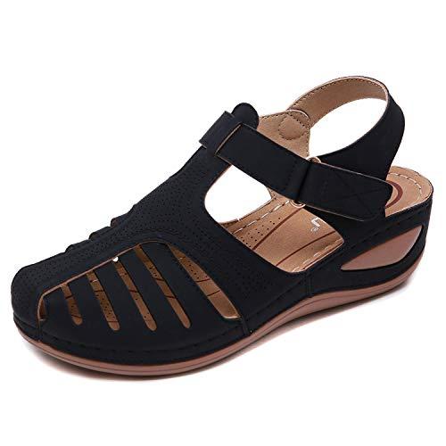 Sandalias Mujer Verano Cuña Sandalias Cerradas Cómodos Casual Zapatos de Playa