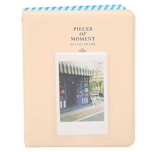 Mini álbum de fotos con bolsillos, estuche de almacenamiento de fotos de 3 en 64 bolsillos para boletos de cine, mini álbum de fotos de boletos de autobús para Instax Mini 11/9/7 s / 25/70/90