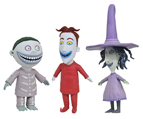 DIAMOND SELECT TOYS The Nightmare Before Christmas Best of Series: Lock, Shock and Barrel Action Figure, Multicolor