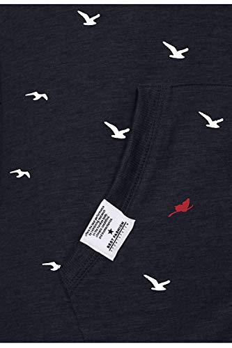 TrendiMax Damen Sweatshirt Zip Jacke mit Kapuze Sweatjacke Kapuzenjacke Allover Druck, Schwarz, XL