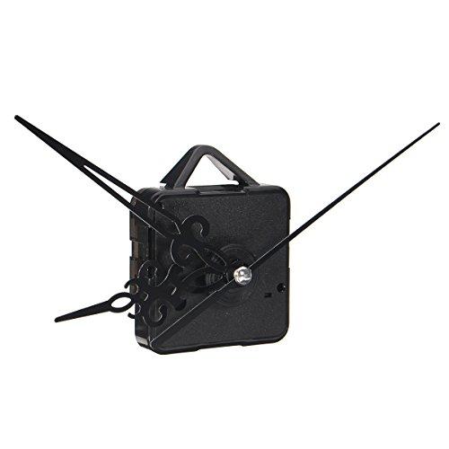 EsportsMJJ Silent DIY Quarz Wanduhr Uhrwerkmechanismus Mute Hands Reparaturwerkzeug Teile Kit-Schwarz