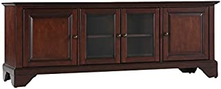 Crosley Furniture LaFayette 60-inch Low-Profile TV Stand, Vintage Mahogany