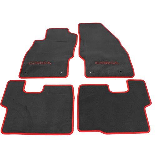 Original Opel Corsa D und Corsa E Velours Fußmatten Satz Rot 1724069 93199283