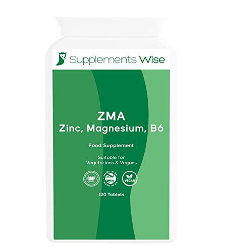 Zinc, Magnesium and Vitamin B6 - 120 Tablets - ZMA Supplement for Muscle Recovery - Aids Calm Sleep - High Strength Complex - Suitable for Adult Men and Women