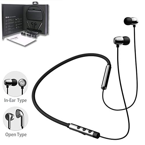 MobiFren Flex-L Wireless Bluetooth Headset Shape-Memory Alloy LDAC apt-X Premium Sound Earphones with Smartphone Mobile App-Magnetic Earbuds, Sport Running Sweat-Proof (Flex-L Soul)