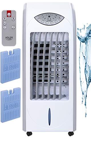 4in1 Aircooler | Mobiles Klimagerät | Ventilator | Luftkühler | Mobile Klimaanlage | Standventilator | Klima Anlage Tragbar | Turmventilator | Abschaltautomatik | 350 Watt | Leiser Betrieb |