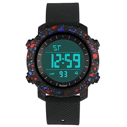 Reloj para Niños Digital,Reloj Adolescentes Chico Deporte Impermeables para niños con Pulsera Suave con Alarma/Cronómetro/Luz LED/Reloj con Función de Fecha para Adolescentes