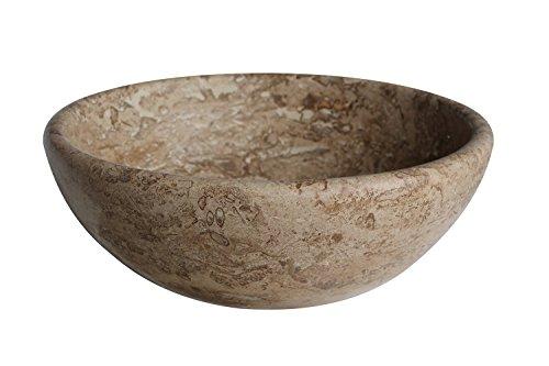 Classic Natural Stone Vessel Sink - Afyon Noce Travertine