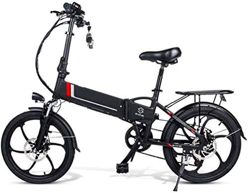 Bicicleta eléctrica de nieve, Bicicletas eléctricas for Adultos de aleación de magnesio eléctrica plegable Bicicletas Todo Terreno 48v 350w 10,4 Ah y 25 Km / h extraíble de iones de litio de la montañ