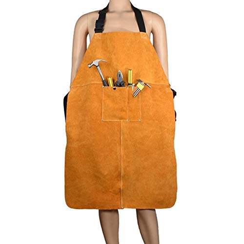 Cowhide Welder Welding Apron Heat Insulation Work Safety Protective Clothing
