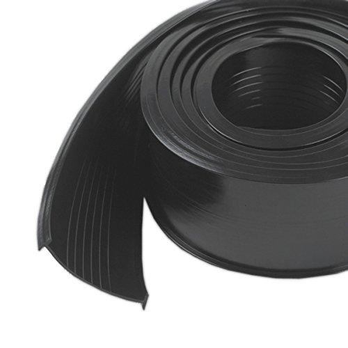 M-D Building Products 8460 M-D 0 Replacement Universal Garage Door Bottom, 9 Ft L X 2-5/8 in W, Vinyl, 9', Black