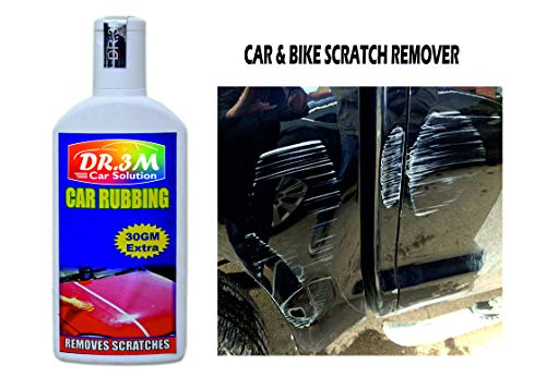 DR3M Car & Bike Scratch Remover, Advanced Formula Rubbing Compound,use All Colours (Not for Dent & Deep Scratches)- 100gms