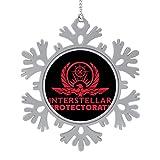 BEDKAGD Protector Interestelar de Carbono Alterado Decoraciones de aleación de copo de nieve para colgar, recuerdos de Navidad, decoraciones navideñas personalizadas.