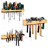 Screwdriver Organizer, Pliers Organizer Hammer Rack, Wall Mounted Tool Storage Oganizer Wooden Tool Holders Organizers for Screwdriver, Pliers and Hammers Storage, 3 Pack(Hand Tools not Include)