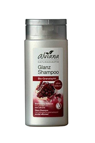 Alviana Naturkosmetik Glanz Shampoo Bio-Granatapfel 200 ml Vegan Natrue ohne Silikone