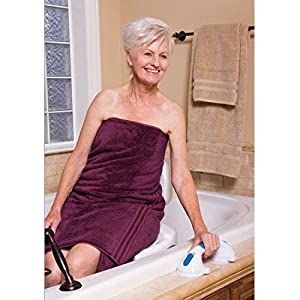"""Carex Suction Shower Grab Bar – 12"""" Ultra Grip Shower Handle - Dual Locking Grab Bars for Bathtubs and Showers – Seniors, Disabled, Handicap, Elderly Assistance Product"""