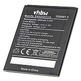 vhbw Batterie Compatible avec Wiko Tommy 3 Smartphone (2500mAh, 3,8V, Li-ION)
