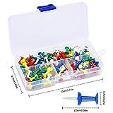 Zoom IMG-1 100 pezzi multicolori map puntine