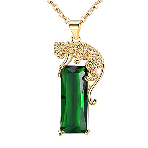 jieGorge Necklaces & Pendants, Fine Beauty Necklace Gold Leopard Pendant Gemstone Jewelry Fashion PersonalityFi, for Christmas Day (Gold)
