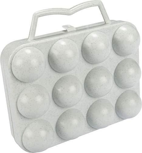 ALUMINIUM ET PLASTIQUE Boîte à 12 oeufs gris moucheté - BO12