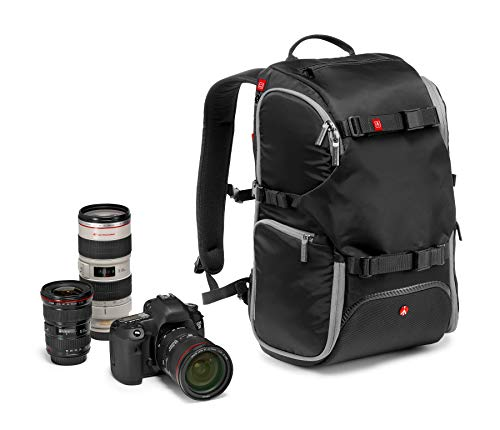 Manfrotto MB MA-BP-TRV Advanced Reise-Rucksack mit Kamera Protection System 11.8 x 9.1 x 18.9 inches Schwarz