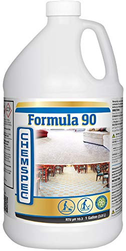 Chemspec Formula 90 Professional Carpet Cleaning Detergent for Commercial and Heavily Soiled Carpets (1 Gallon)
