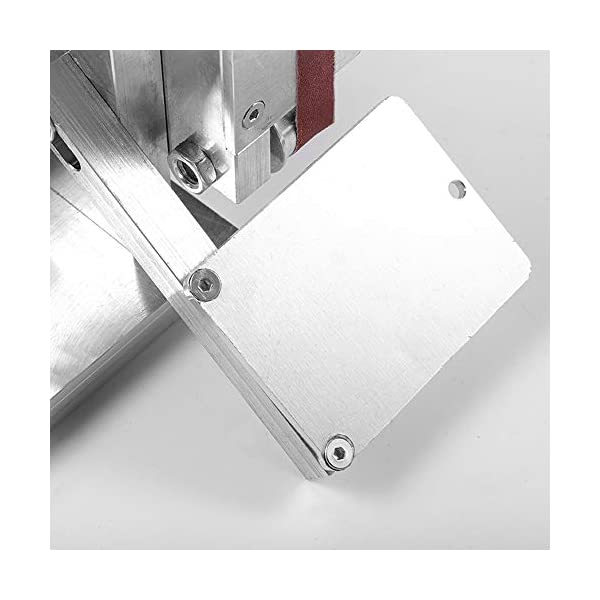 Lijadora De Banda 4500-9000 Rpm Con 7 Posiciones Ajustables, Lijadora De Bordes, Lijadora De Bordes Para Trabajos Manuales, 10 Bandas + 4 Discos