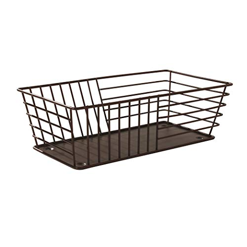 Spectrum Diversified Wright Basket, Classic Kitchen Design for Breads, Roll, Muffin, Pastries & Baked Good Storage, Traditional Style Snack & Food Holder for Serving, Bronze